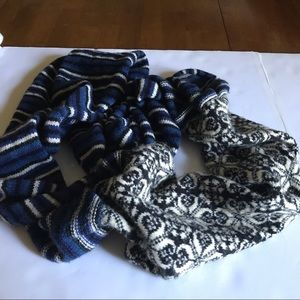 Anthropologie | Infinity Scarf Wool Blend Blue